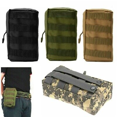 Tactical Molle Utility Pouch Waist Belt EDC Bag Outdoor Pocket Military +Zipper