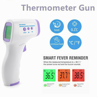 No-contact Touch IR Infrared Digital LCD Thermometer Head Forehead Baby Adult