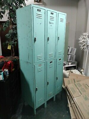 Vintage Industrial Factory Lockers