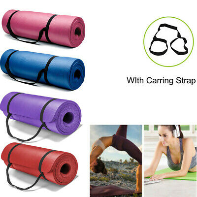 15MM Yoga Non-slip Mat Exercise Mat Pilates Training Thick Cushion Gym Fitness