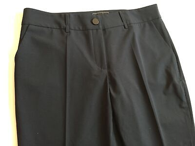 Giorgio Armani Black Label Pants (35W/28L) EU44 Black Polyester Dressy Slacks