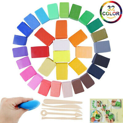 32 Colors Oven Bake Polymer Clay Soft Modelling DIY Craft Block Plasticine Toys