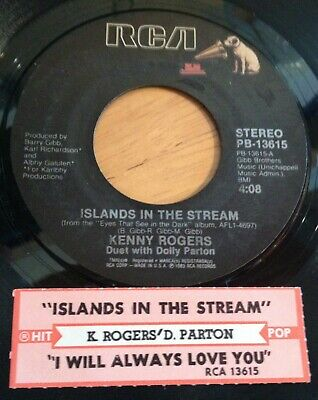Kenny Rogers Dolly Parton 45 Islands In The Stream / I Will Always Love w/ts