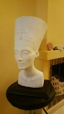 Queen Nefertiti Bust Egyptian REAL SIZE from 3d scan . 49cm .PERFECT MODEL