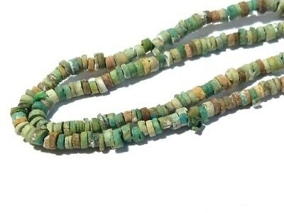 Ancient Egyptian Green & Multi Coloured Faience Beads Necklace Restrung #CME4