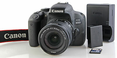 Canon EOS 800D Camera with Canon EFS AF 18-55mm IS STM Zoom Lens - BOXED