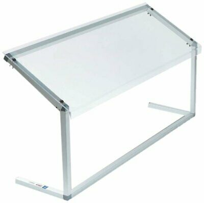 """CARLISLE 916007 Standard Single-Sided Sneeze Guard with Aluminum Frame 60"""" Clear"""