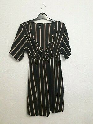 size 14 black striped dress from New Look Maternity
