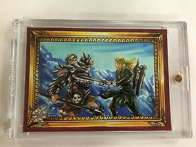 The Hobbit Battle of the Five Armies Smaug Sketch Card By Achilleas Kokkinakis #