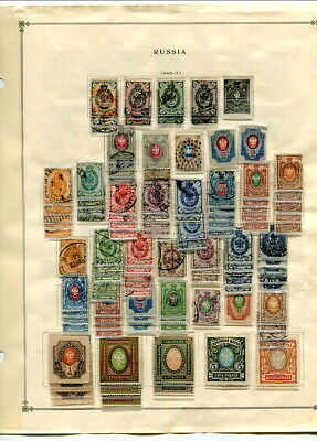 Very Nice Packed Early Russia On Scott Pages-1865-1933!