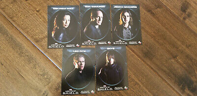2015 Abc Marvel Calendar Agents Of Shield Promo Card Set Of 5 With Rare Sp Skye