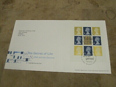 2003 First Day Cover / FDC - D.N.A / Genes  Definitive block pane / mini sheet