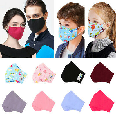 Kids Adult Breathable Anti Haze Dust Face Mouth Fask Filter Cover Washable