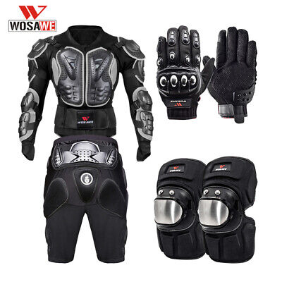 Motorcycle Body Armour Gloves Knee Pads Chest Protector Hip Protective Shorts