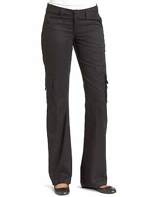 Dickies Womens Pants Black Size 18X30 Short Relaxed Fit Straight Cargo $48- #496