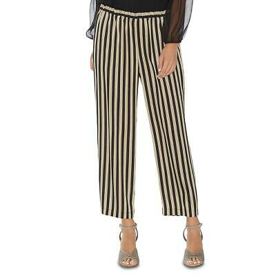 Vince Camuto Womens Black Striped Pull On Daytime Pants Trousers XL BHFO 1092