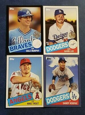 2020 Topps Series 1 1985 35th Anniversary Inserts Blue Black You Pick