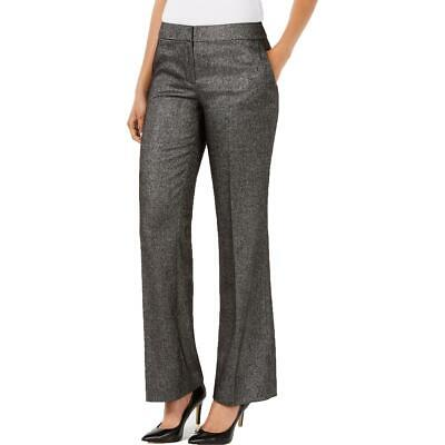 Nine West Womens Black-Ivory Straight Leg Office Trouser Pants 2 BHFO 7447