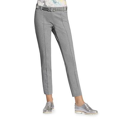 Basler Womens Lea Gray Printed Cropped Office Skinny Pants 14 BHFO 2443