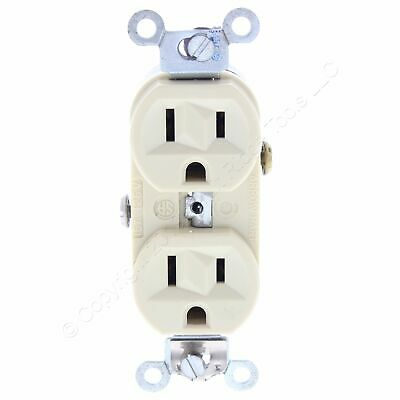 Arrow Hart Ivory Commercial Straight Blade Duplex Receptacle 20A 125V 5-20 6352I