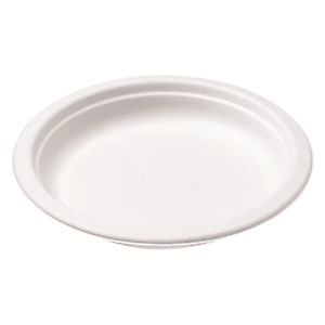 500 Castaway Plates Eco 178Mm Round Biodegradable