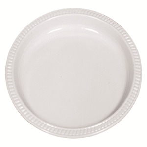 500 Plates Plastic 225Mm 9 Inch Biodegradable White