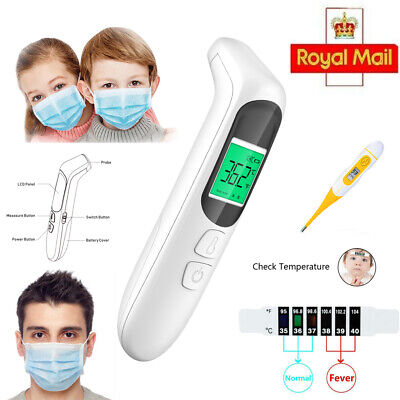 Medical Thermometer Infrared Digital Non-contact Forehead & Ear Baby Adult Kids