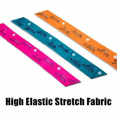 Resistance Bands Stretching Belt Exercise Glutes Yoga Pilates Home Gym Workout