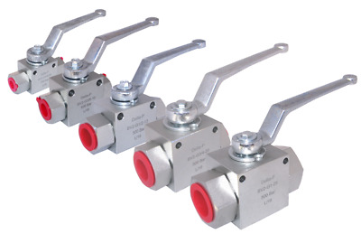 "Hydraulic 2 & 3 Way High Pressure Ball Valves - 1/4"" - 1"" BSP - 500 Bar MWP"