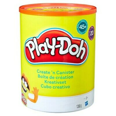NEW Play-Doh Create N Canister Set 20x Playdoh Tubs 45x Accessories