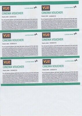 6 x Cineworld Cinema Tickets Lloyds- Expire 16th June 2020