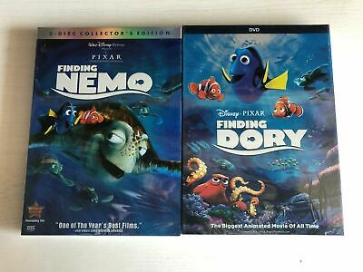 Finding Nemo and Finding Dory 2-Movies Disney Pixar DVD Bundle Brand New!