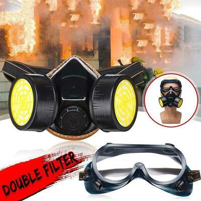 Anti Gas Mask Survival Safety Respiratory Emergency Filter Face Mask Protect UK