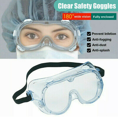 Clear Safety Glasses Goggles Anti Saliva Fog Dust Work Lab Eye Protection LOT US
