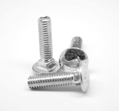 #6-32 x 1 Coarse Carriage Bolt Low Carbon Steel Zinc Plated