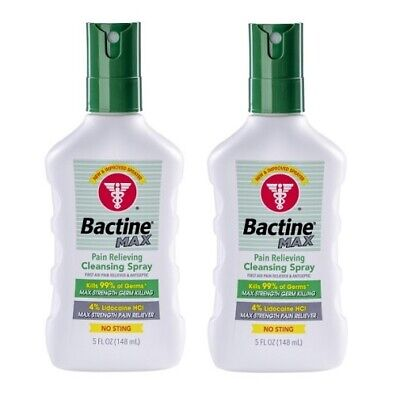 Bayer Bactine Max Pain Relieving Cleansing Spray 2 Bottle Pack 5 oz