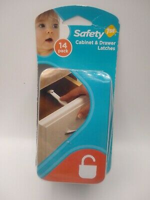 New Safety 1st Cabinet & Drawer Latches 14 Pack Child Baby Proof