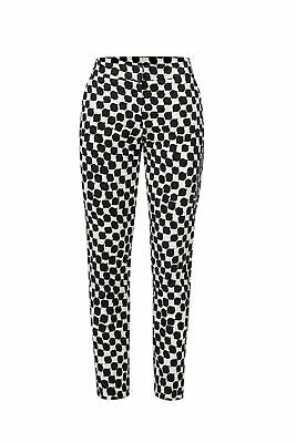 Trina Turk White Black Women's Size 6 Printed Stretch Cropped Pants $276 #818