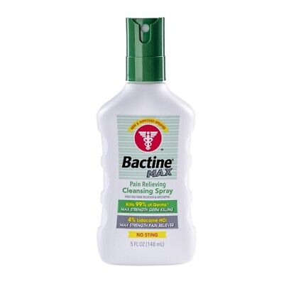 Bayer Bactine Max Pain Relieving Cleansing Spray Soothing Infection Protection