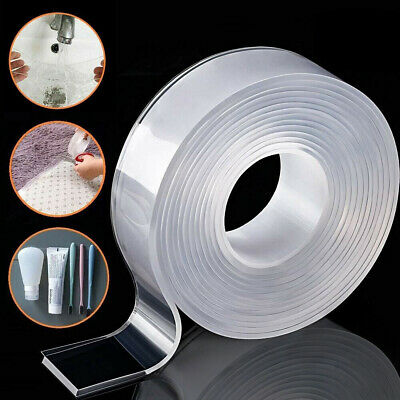 9.8ft Nano Magic Tape Washable Adhesive Double-Sided Traceless Invisible Tape US