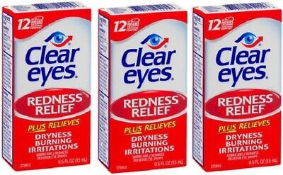 Clear Eyes Redness Relief Eye Drops 3 Pack
