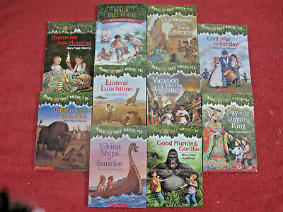 Lot of 10 Magic Tree House Home School Children's Chapters Books Adventure RL2