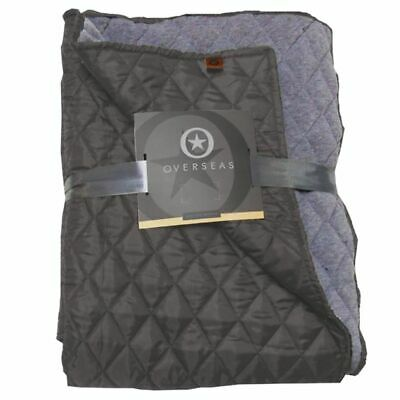 Overseas Courtepointe taffetas/jersey 130 x 150 cm Anthracite Couvre-lit