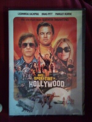 Once Upon a Time in Hollywood 2019 DVD Leonardo DiCaprio Brad Pitt New & Sealed