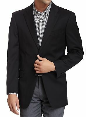 Tommy Hilfiger NEW Black Mens Size 44 Notch Two Button Wool Blazer $425 #030