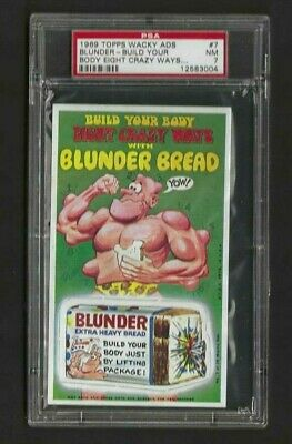 Wacky Ads 1969 # 7 Blunder Bread Psa 7 Nm A Beauty- Tough! No Creases