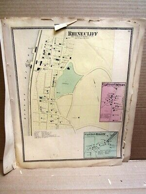 1867 Villages Rhinecliff, Clinton Corners,More, Map Dutchess Co. Ny Beers Atlas