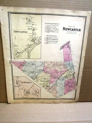 1867 Town -Vil New Castle Chappaqua  Maps Westchester County, Ny  Beers Atlas