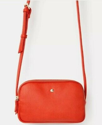Joules Womens Farley Cross Body PU Bag in RED One Size BNWT