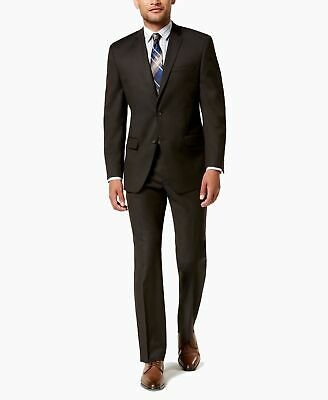 Marc New York Mens Suit Set Brown Size 36 2 Piece Two Button Stretch $395 #371